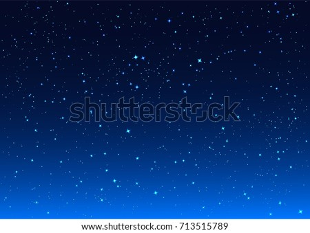 bright stars in blue dark night