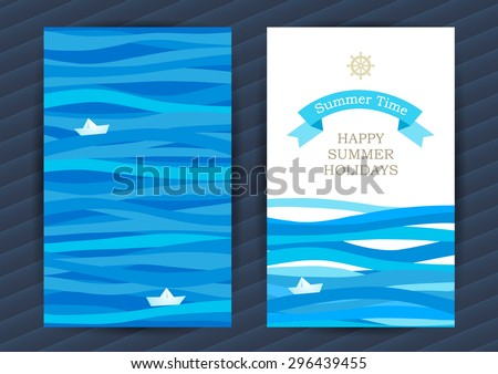 bright summer holidays cards