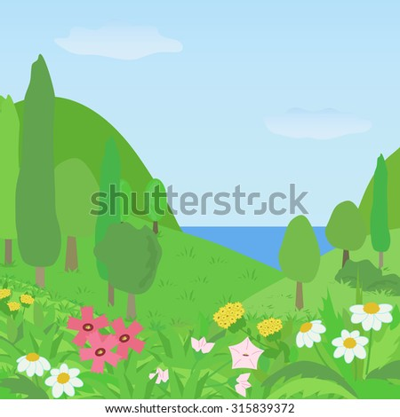bright summer landscape with