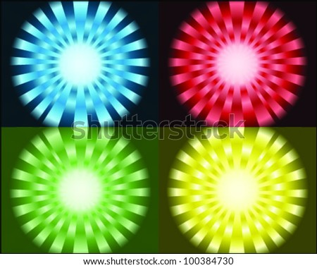Bright sunburst -vector