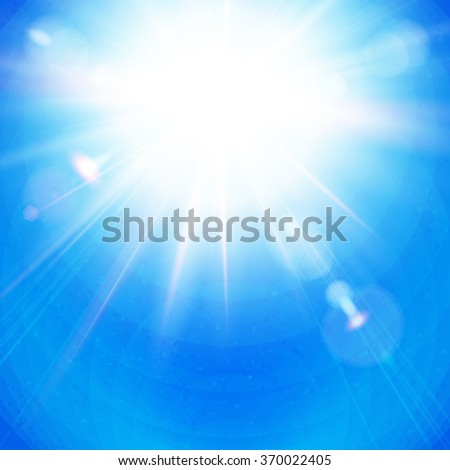 bright sunburst with radiating