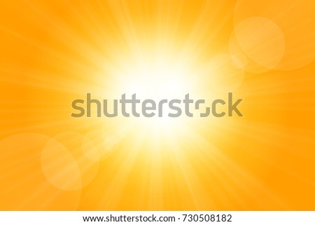 bright sunlight of the yellow