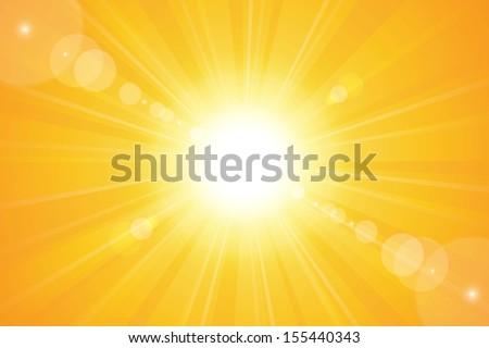 Bright sunny days sunset sky orange background for illustrations.