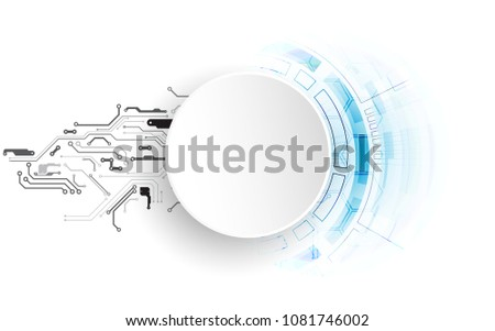 Bright technological background. A creative idea for your business concept.