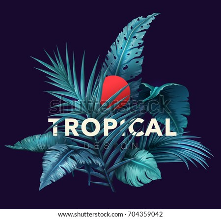 bright tropical background with