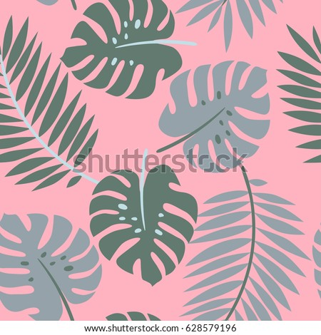 bright tropical pattern with