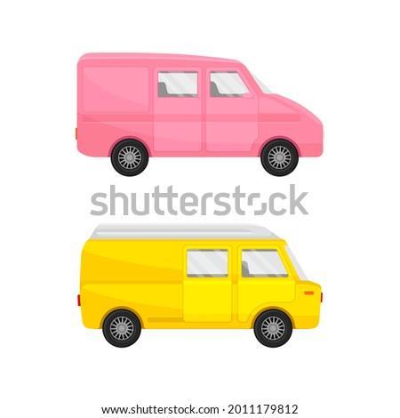 bright van as road vehicle and