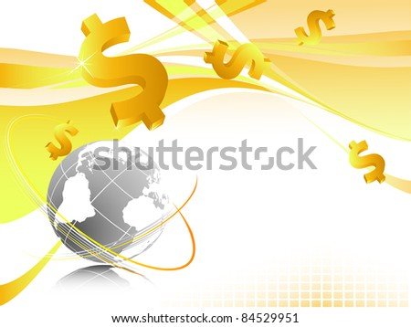 bright vector background with dollars. Eps10 version