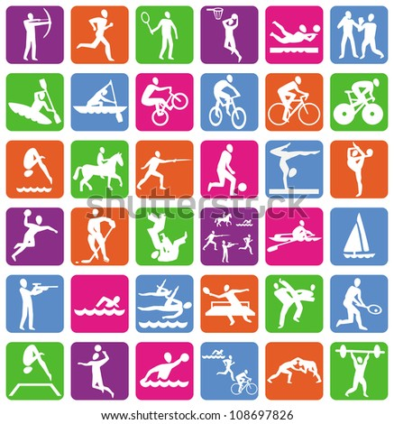 Bright Vector collection with 36 sport icons