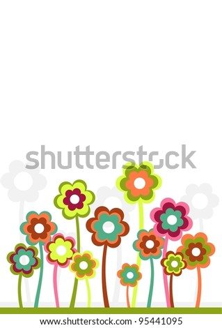 bright vector flowers