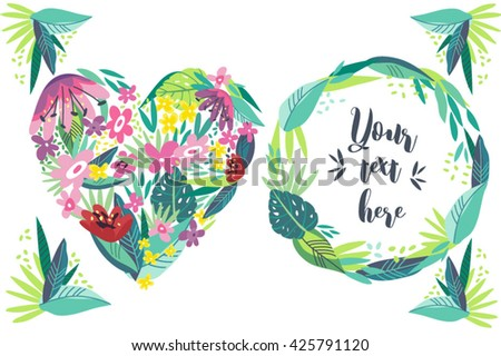 bright vector frame made from