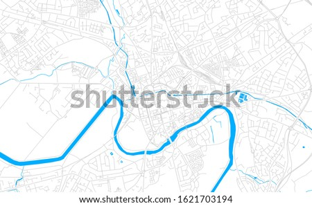 bright vector map of chester