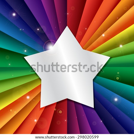 bright vector rainbow