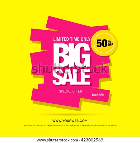 big sale colorful template banner background download free vector