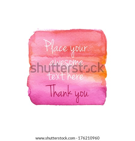 Bright watercolor background. Vector illustration