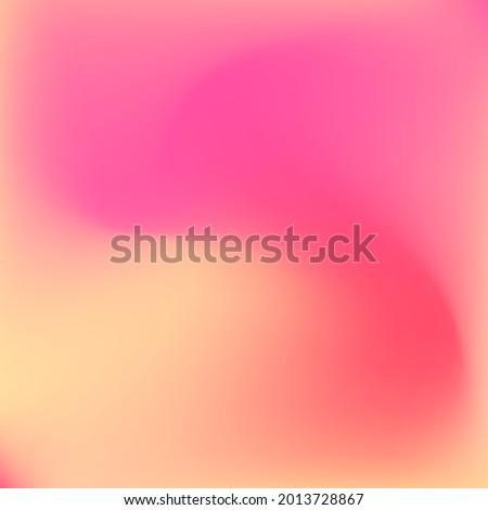 Bright Watercolor Sunrise Pastel Design Picture. Color Flow Curve Vibrant Sunset Swirl Gradient Mesh. Pink Red Liquid Yellow Fluid Background. Warm Orange Neon Peach Trendy Gradient Background. Foto d'archivio ©