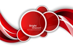 Bright wavy background with circles