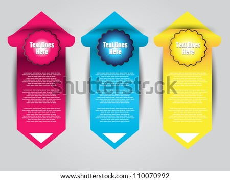 bright web banners for sale and advertisement - stock vector