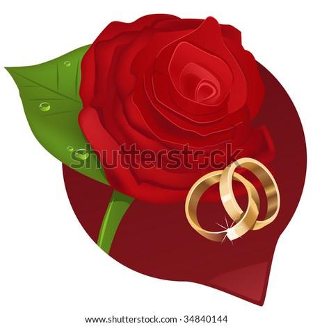 stock vector Bright wedding illustration will decorate wedding invitation