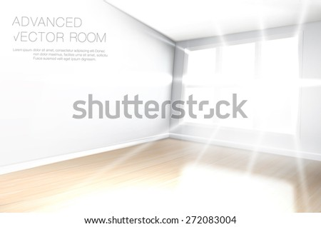 bright  white empty room  with