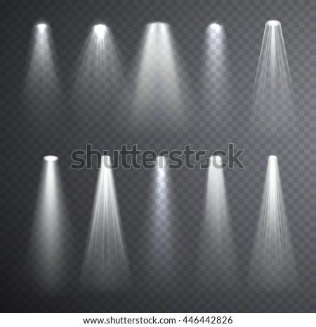 bright white light beam