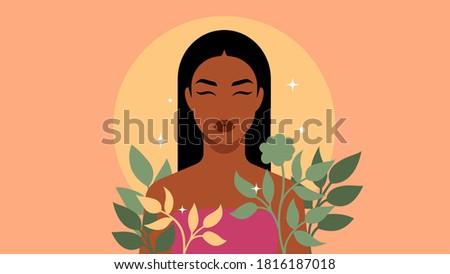 bright woman portrait