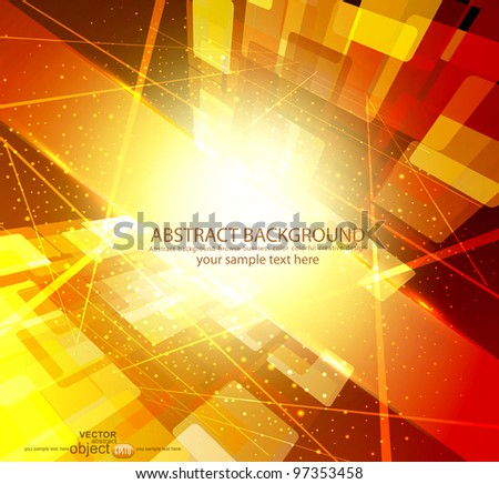 bright-yellow abstract background vector