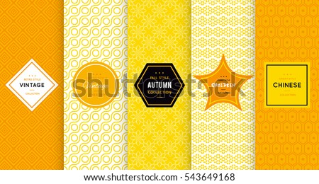 bright yellow seamless pattern
