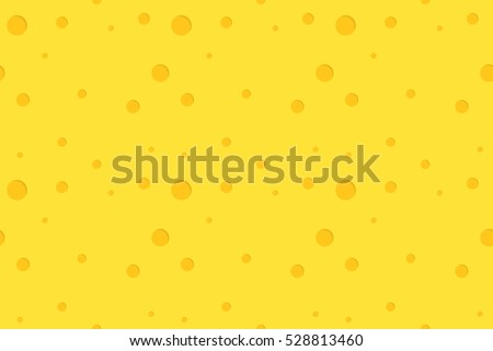 Bright yellow seamless pattern. Imitation cheese holes