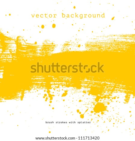bright yellow vector brush