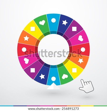 brightly colored wheel of