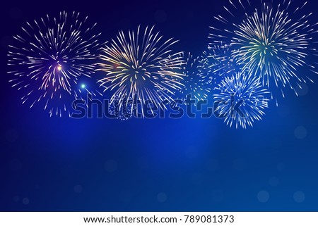 brightly colorful fireworks and