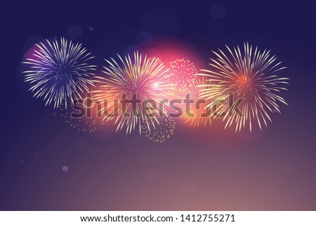 brightly colorful fireworks on
