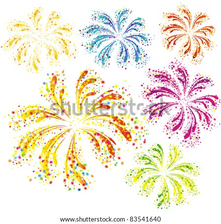 Fireworks With White Background   New Calendar Template Site