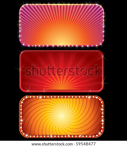 Brightly lit vector billboards (only gradients used)