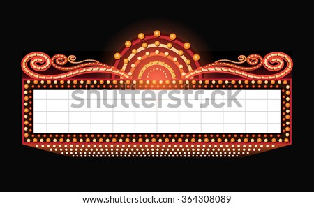 brightly theater glowing retro