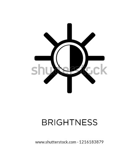 Brightness icon. Brightness symbol design from Web navigation collection. Simple element vector illustration on white background.