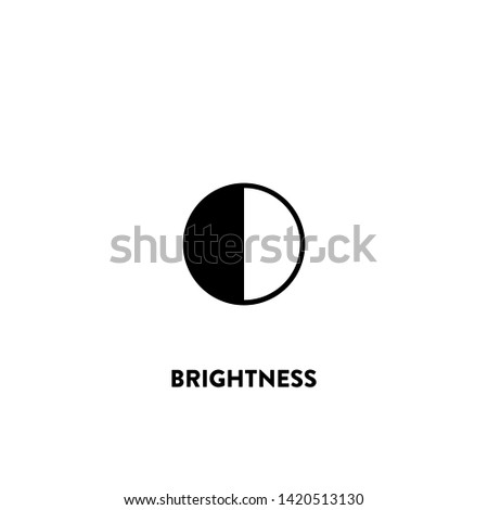 brightness icon vector. brightness sign on white background. brightness icon for web and app