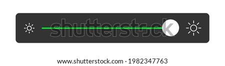 Brightness Slider. Maximum Light Isolated Sign. Vector illustration Сток-фото ©