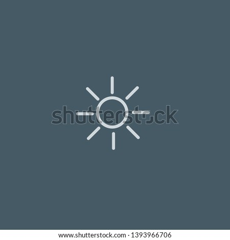 Brightness vector icon. Brightness concept stroke symbol design. Thin graphic elements vector illustration, outline pattern for your web site design, logo, UI. EPS 10.