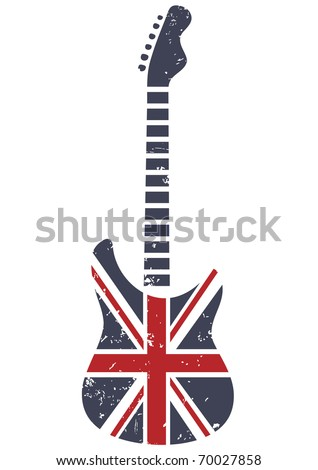 Britain guitar - stock vector