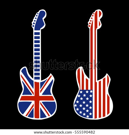 british and american rock and