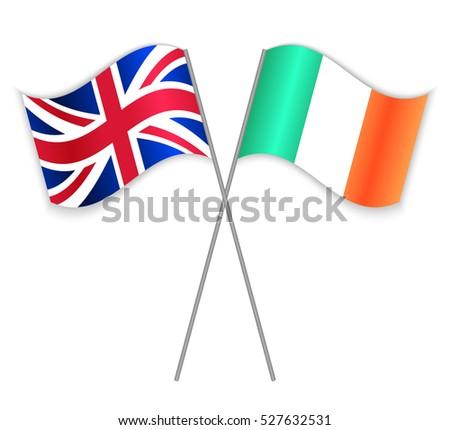 british and irish crossed flags