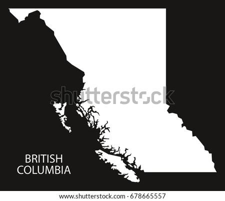 British Columbia Map Vector Download Free Vector Art Stock - British columbia canada map
