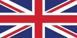 British flag a vector illustration