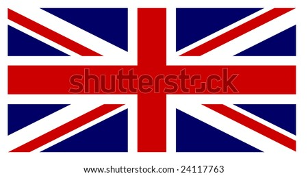 British flag with exact dimensions and colours