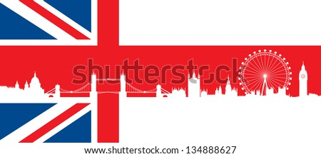 british flag  with very