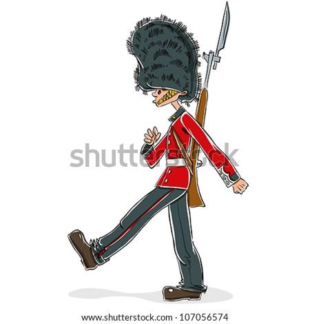 british guard cartoon  vector