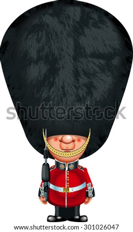 british guardsman with bearskin