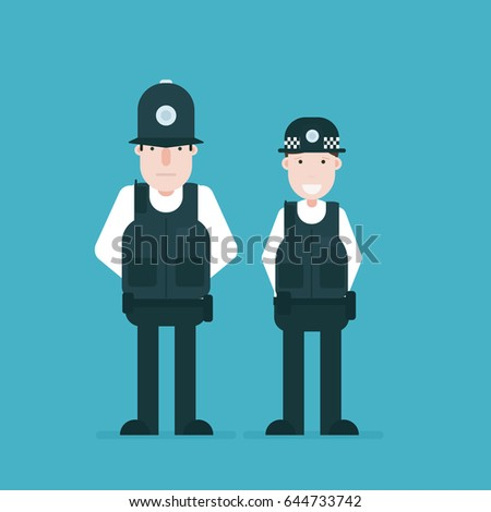 british police officers vector